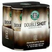 Starbucks Doubleshot Frappuccino Coffee Drink -4 pk