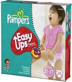 Pamper's Girls Easy Ups 2T - 3T -26ct