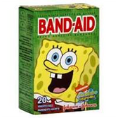 Johnson &Johnson Sponge Bob Square Pants Glow InDark Bandaid-20c