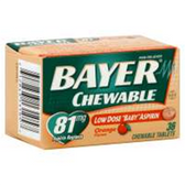 Bayer Orange Chewable Low Dose Asprin - 36 Count