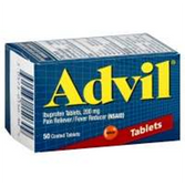 Advil Ibuprofen Caplets - 50 Count