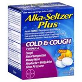 Alka Seltzer Plus Cold And Cough Citrus Flavor Effervescent Tabl