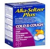 Alka Seltzer Plus Cold And Cough Citrus Flavor Effervescent Tabl