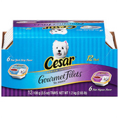 Cesar Select Dog Food Gormet Filets 12- 3.5 Oz