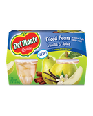 Del Monte - Diced Pears in Vanilla Spice Syrup -4ct