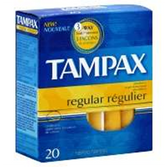 Tampax Original Regular Flushable Tampons - 20 Count