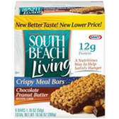 South Beach Living Crispy Meal Bars Chocolate Peanut Butter-5 pk