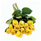 Dozen Roses Bunches - Yellow