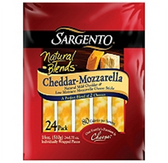 Sargento Natural Blends Cheddar Mozzarella Cheese Sticks - 24 pk