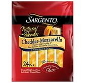 Sargento Natural Blends Cheddar Mozzarella Cheese Sticks - 24 pk