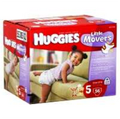 Huggies Supreme Little Movers Diapers Size 5 - 124 pk