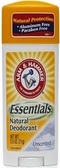 Arm & Hammer Essentials Deodorant - Unscented -1 stick