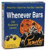Pamela's Whenever Bars - Oat Blueberry Lemon -5 Bars