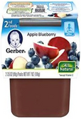Gerber All-Natural - Apple Blueberry -2ct
