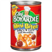 Chef Boyardee Mini Bites ABC's & 123's w/ Meatballs - 15 oz
