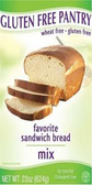Gluten Free Pantry Favorite Sandwich Bread Mix -22oz