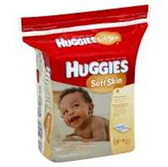 Huggies Baby Wipes Soft Skin Refill Pop Up