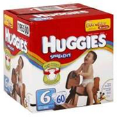 Huggies Snug N Dry Diapers Size 6 - 100 pk