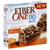 Fiber One Chocolate Peanut Butter 90 Calorie Granola Bar-5 pk