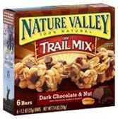 Nature Valley Dark Chocolate and Nut Trail Mix -6 pk