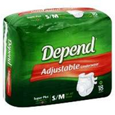 Depend Refastenable Small To Medium Pants - 18 Count