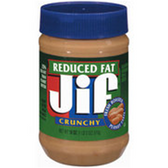 Jif  Reduced Fat Crunchy Peanut Butter -18 oz 1