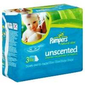 Pampers Baby Wipes Natural Aloe Unscented 3x Refills