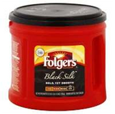 Folgers Black Silk Coffee, 27.8 oz