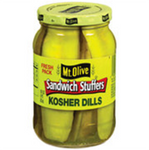 Mt Olive Bread & Butter Sweet Kosher Sandwich Stuffers-16 oz