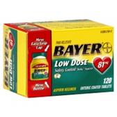 Bayer 81 Miligram Aspirin Enteric Tablets - 120 Count