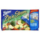 Ziploc Medium Zip N Steam Cooking Bags - 10 Count