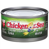 Chicken of the Sea Chuck Light Tuna in Water