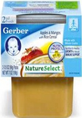 Gerber All-Natural - Apples & Mangos with Rice Cereal -2ct