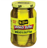 Mt Olive Bread & Butter Sweet Sandwich Stuffers -16 oz