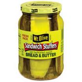 Mt Olive Bread & Butter Sweet Sandwich Stuffers -16 oz