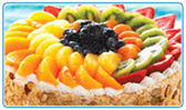 White Cake With Assorted Fresh Fruit