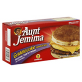 Aunt Jemima Frozen Griddlecake Sausage, Eggs, & Cheese -4 ct