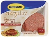 Turkey Burger Patties -lb