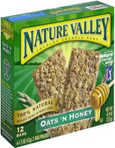 Nature Valley Crunchy Bars - Oats n' Honey -6 pouches