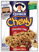 Quaker Chewy Chocolate Chip Granola Bar -10 pk 1