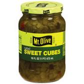 Mt Olive Sweet Salad Dill Cubes -16 oz