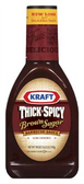 Kraft Thick & Spicy Brown Sugar BBQ Sauce -18 oz