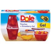 Dole Fruit Bowls in Strawberry Gel Peaches - 4 pk