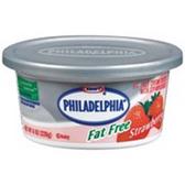Kraft Philadelphia Strawberry Fat Free Cream Cheese Spread -8 oz