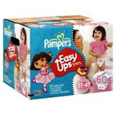 Pampers Easy Ups Girls 3T - 4T