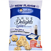 Quaker True Delight SeaSalt & Cracked BlackPepper Rice Cakes-6oz