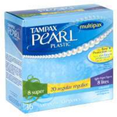 Tampax Pearl Plastic Multipax Unscented Heavy Flow Tampons - 36