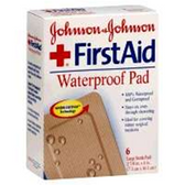 Johnson And Johnson Firstaid Waterproof Pad - 6 Count