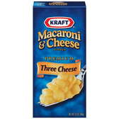 Kraft Mac & Cheese Three Cheese Shells -7.25 oz
