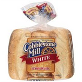 Cobblestone Mill White Sub Rolls -6 ct